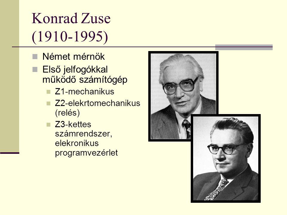 Konrad Zuse (1910-1995) Német mérnök