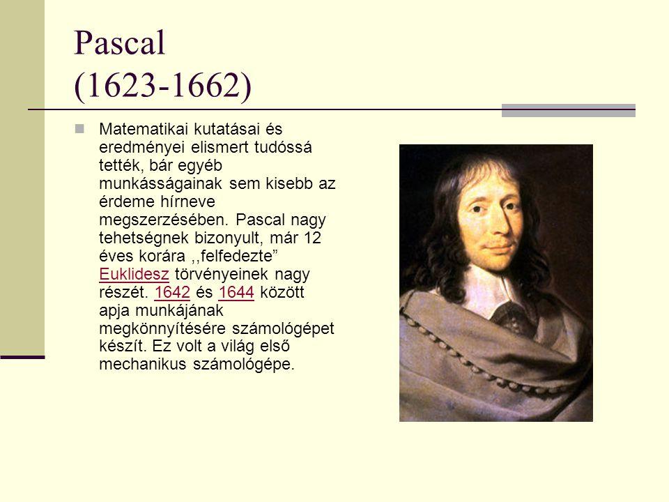 Pascal (1623-1662)
