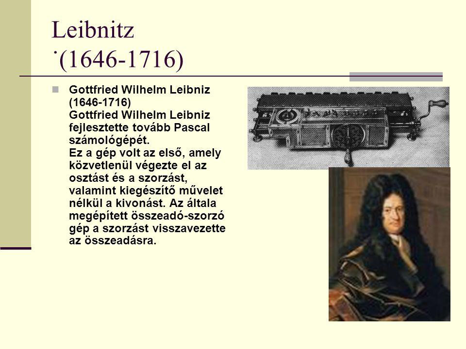 Leibnitz ˙(1646-1716)