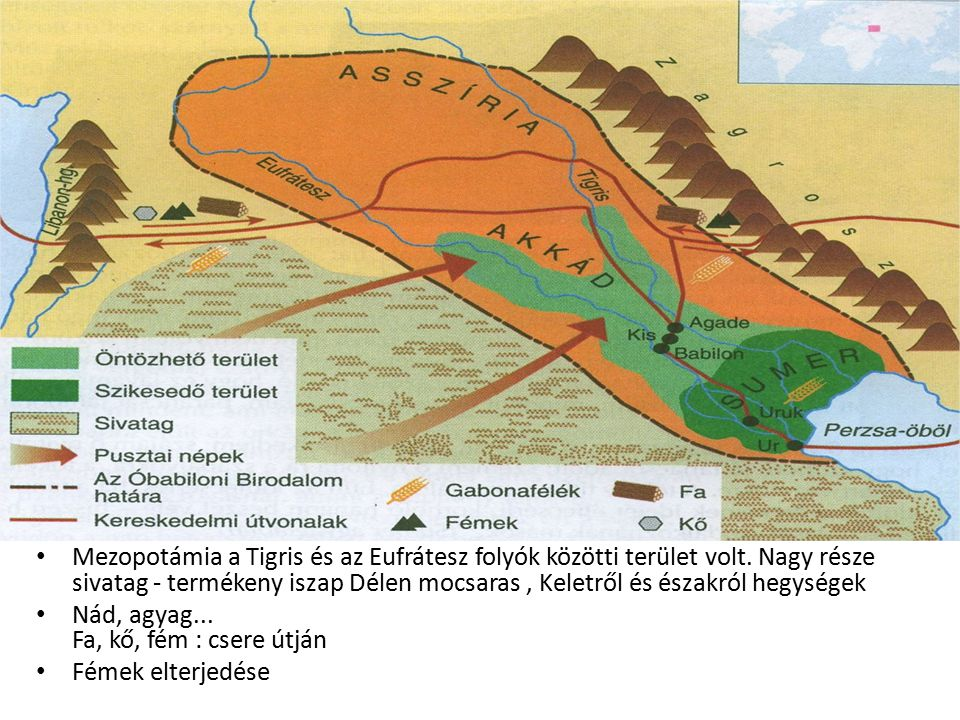 Mezopotámia a Tigris és az Eufrátesz folyók közötti terület volt