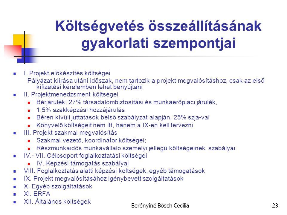 Költségvetés összeállításának gyakorlati szempontjai