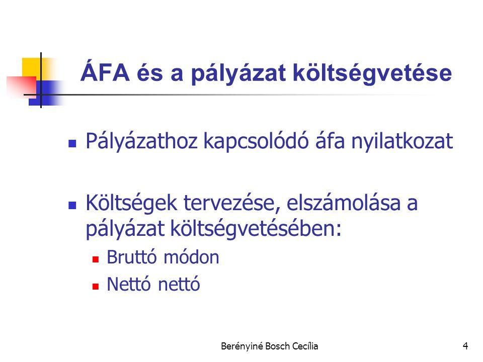 ÁFA és a pályázat költségvetése