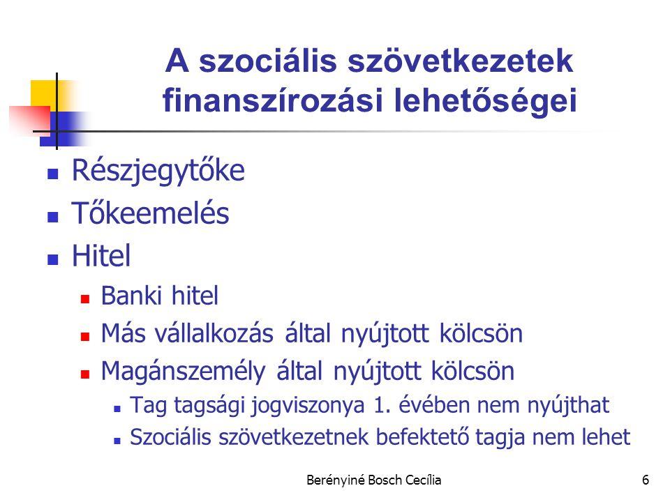 A szociális szövetkezetek finanszírozási lehetőségei
