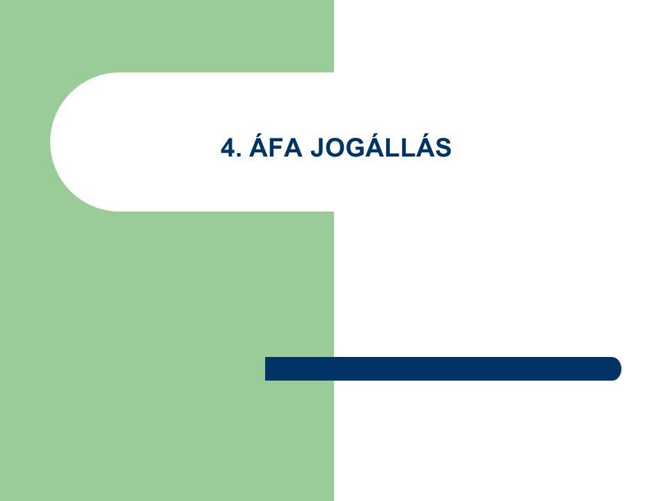 4. ÁFA JOGÁLLÁS