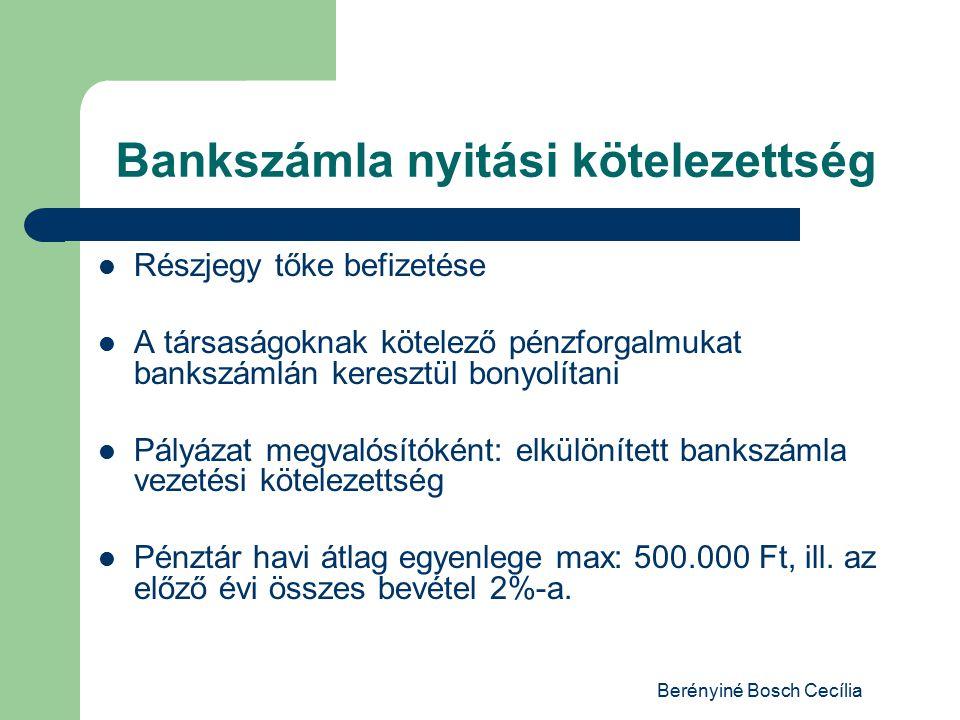 Bankszámla nyitási kötelezettség
