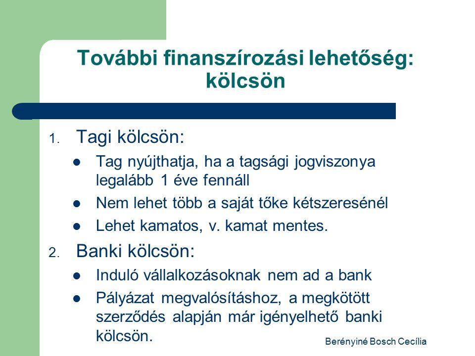 További finanszírozási lehetőség: kölcsön