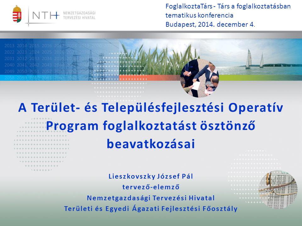 FoglalkoztaTárs - Társ a foglalkoztatásban tematikus konferencia