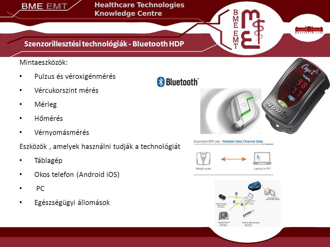 Szenzorillesztési technológiák - Bluetooth HDP