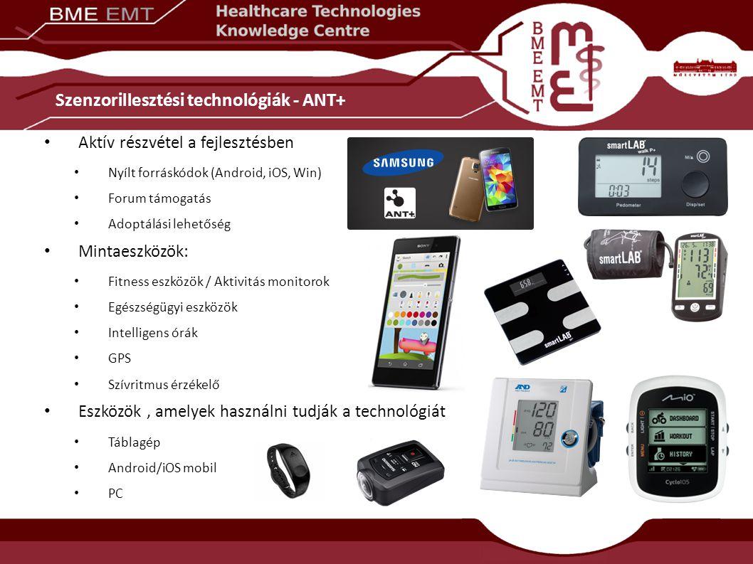 Szenzorillesztési technológiák - ANT+