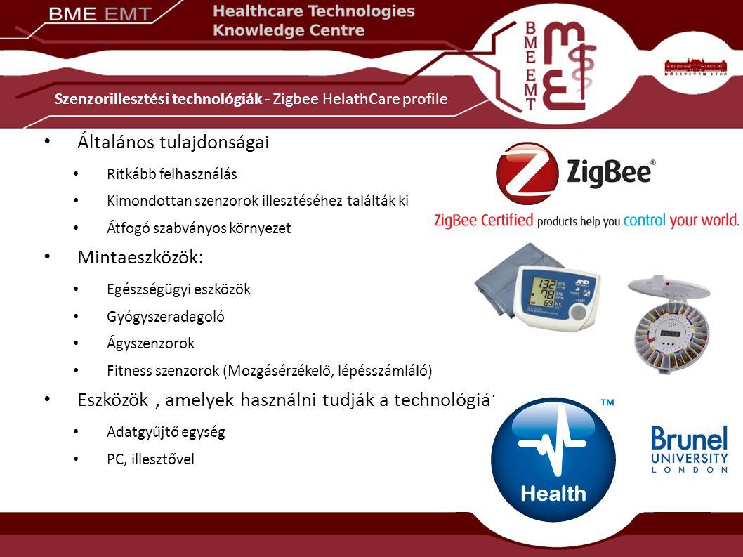 Szenzorillesztési technológiák - Zigbee HelathCare profile