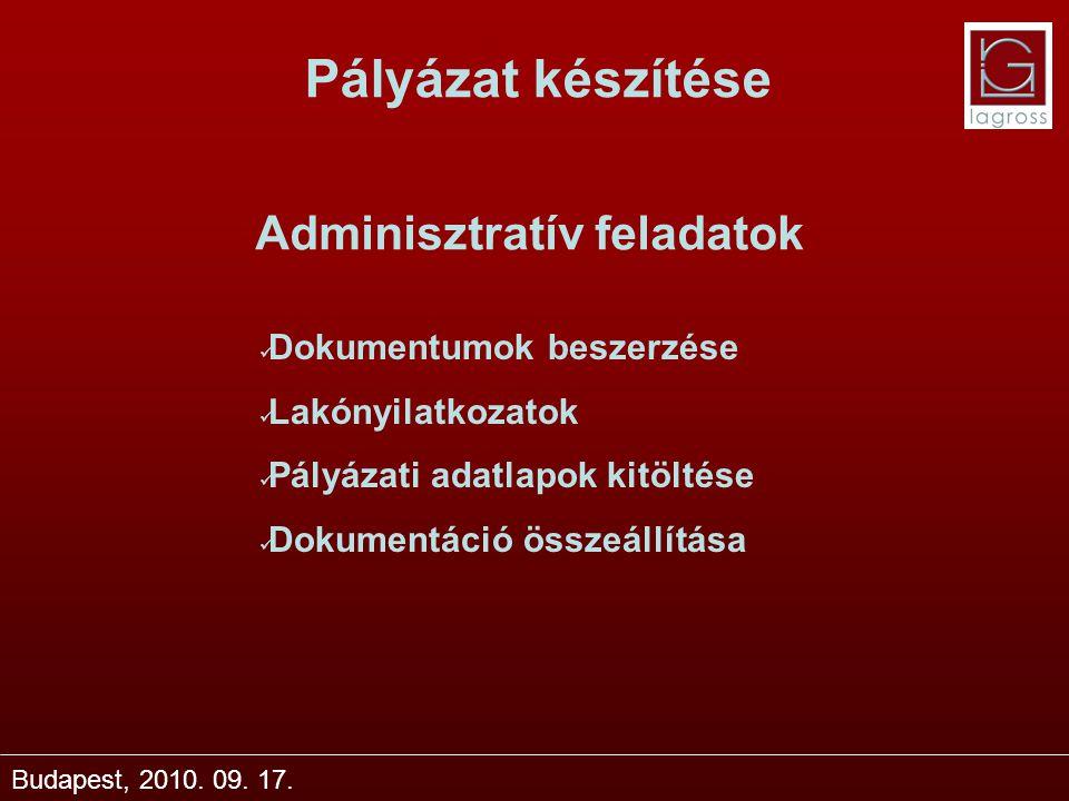 Adminisztratív feladatok