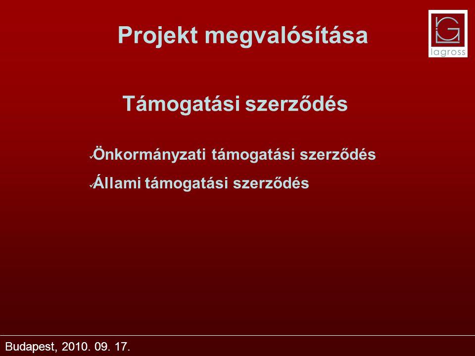 Projekt megvalósítása