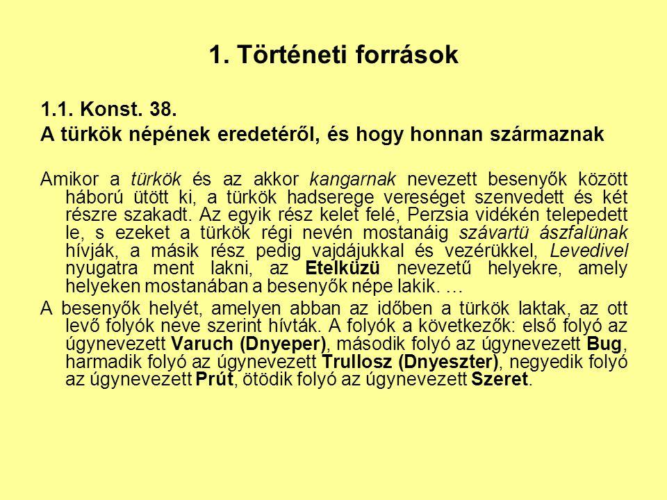 1. Történeti források 1.1. Konst. 38.