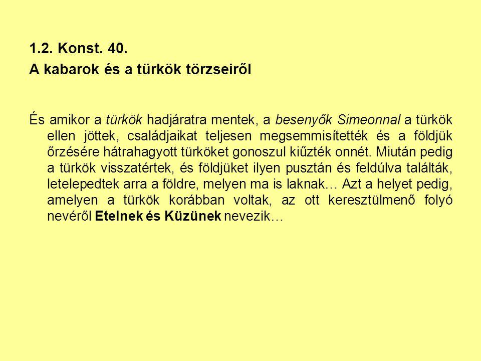A kabarok és a türkök törzseiről