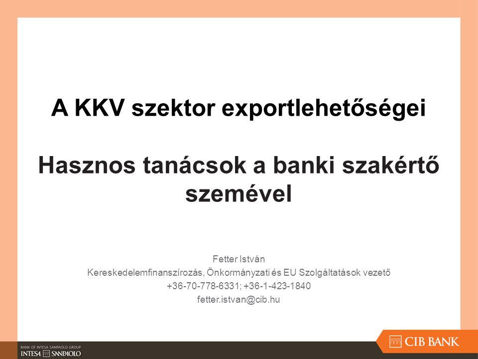 Kereskedelemfinanszírozás, Önkormányzati és EU Szolgáltatások vezető