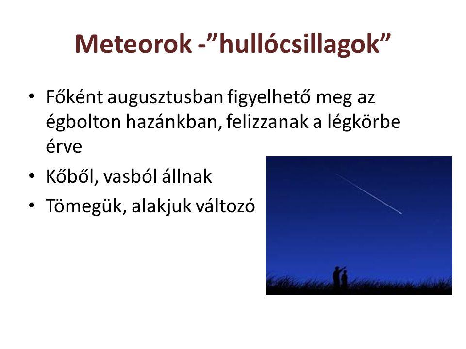 Meteorok - hullócsillagok