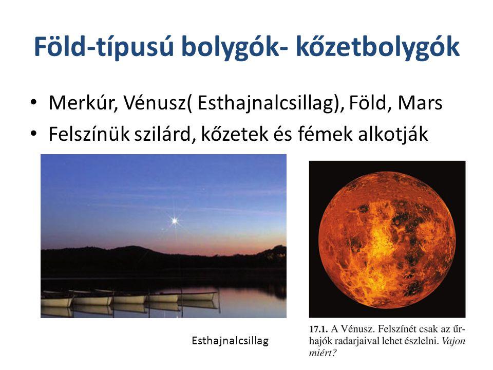 Föld-típusú bolygók- kőzetbolygók