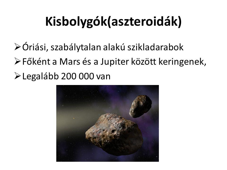 Kisbolygók(aszteroidák)