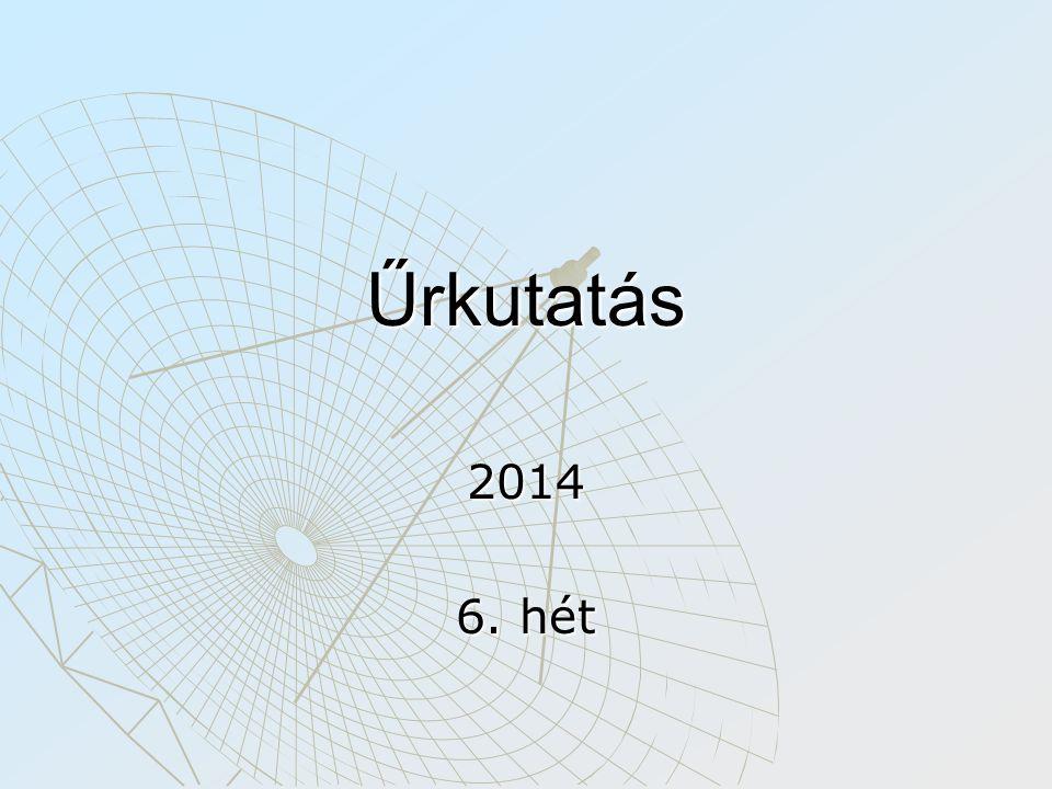 Űrkutatás 2014 6. hét
