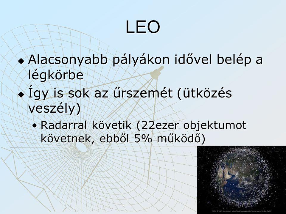 LEO Alacsonyabb pályákon idővel belép a légkörbe