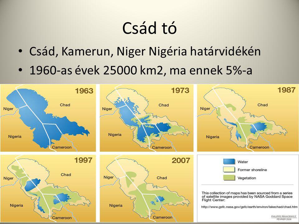 Csád tó Csád, Kamerun, Niger Nigéria határvidékén