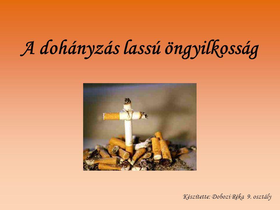 A dohányzás lassú öngyilkosság