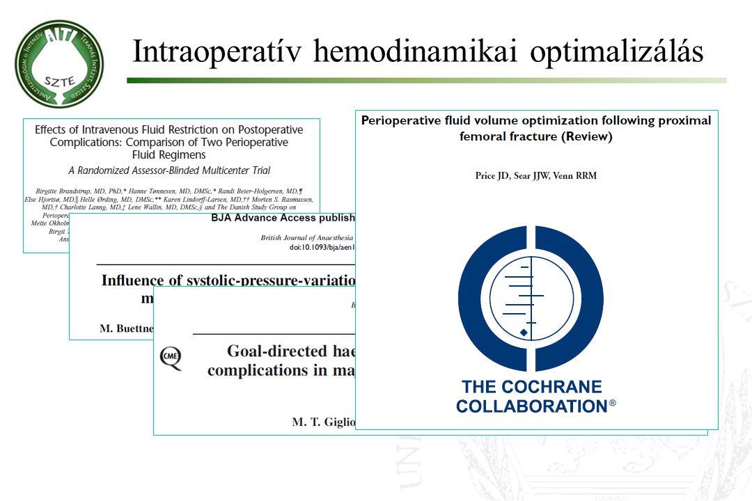Intraoperatív hemodinamikai optimalizálás