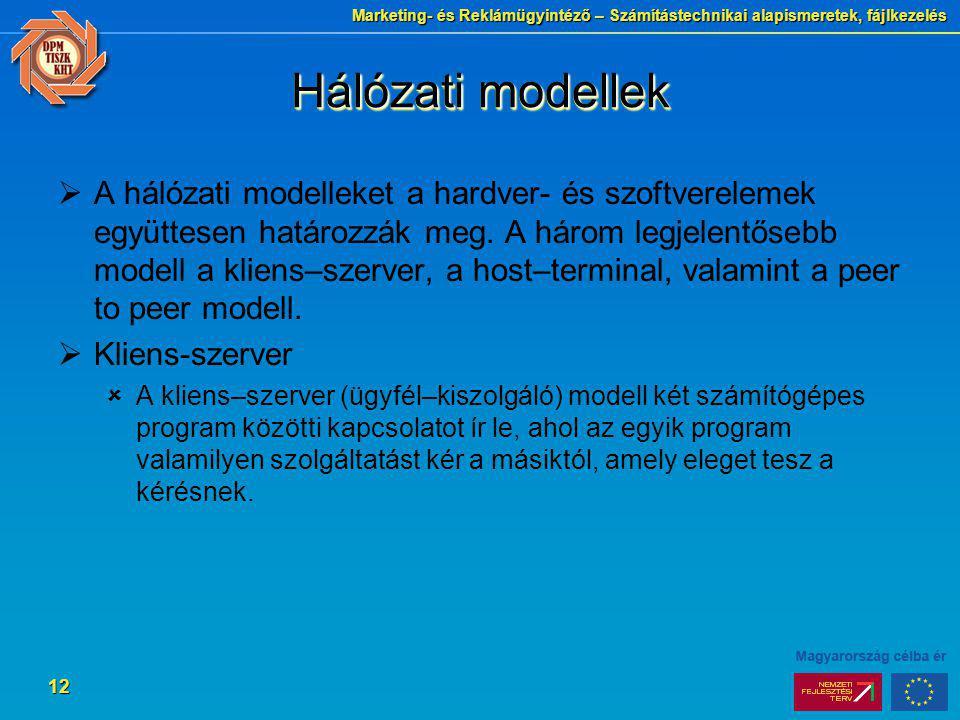 Hálózati modellek