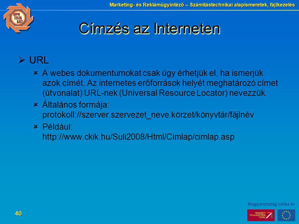 Címzés az Interneten URL