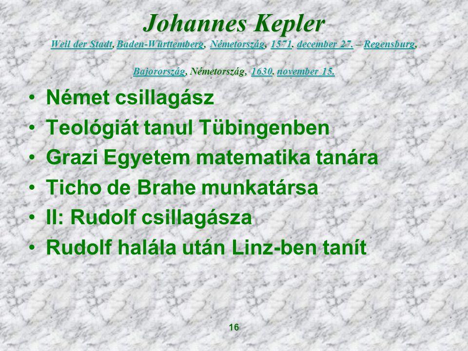 Johannes Kepler Weil der Stadt, Baden-Württemberg, Németország, 1571