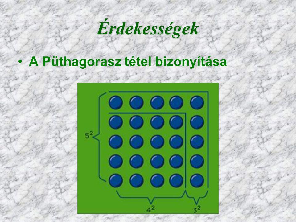 Érdekességek A Püthagorasz tétel bizonyítása 6