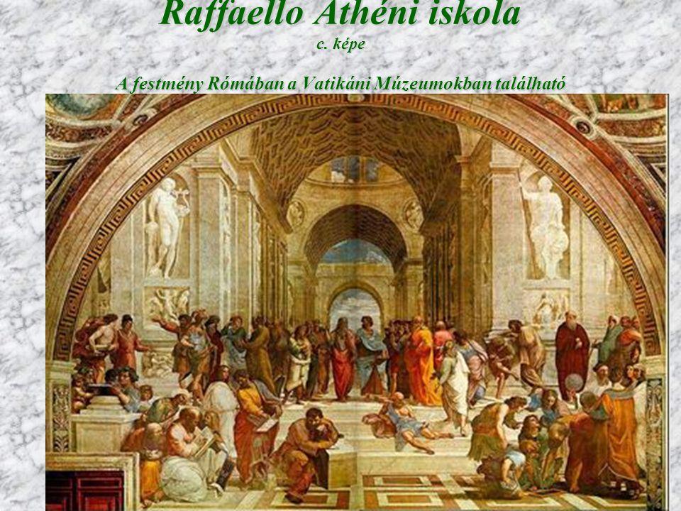 Raffaello Athéni iskola c