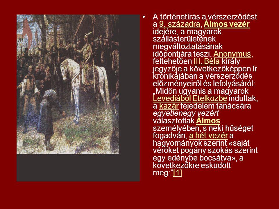 A történetírás a vérszerződést a 9