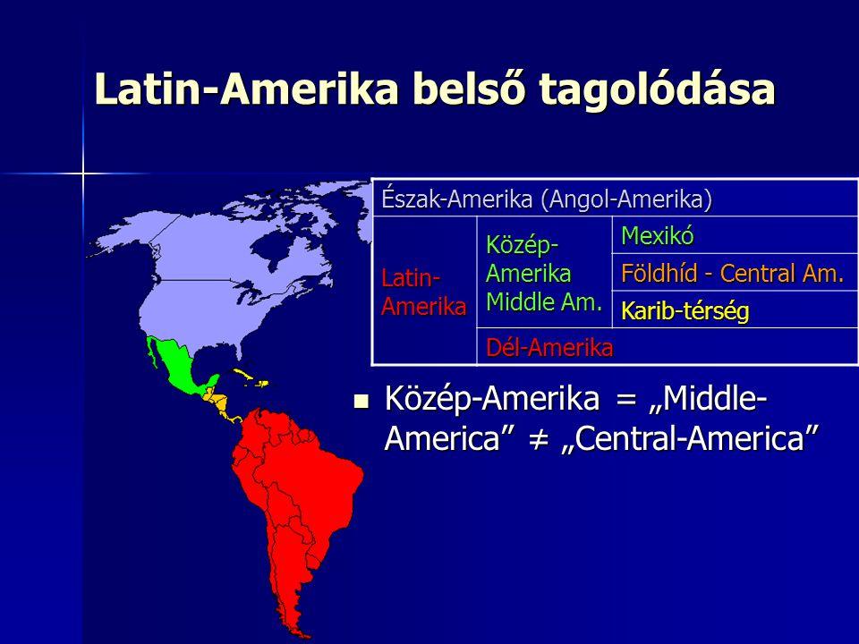 Latin-Amerika belső tagolódása