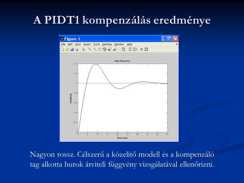 A PIDT1 kompenzálás eredménye