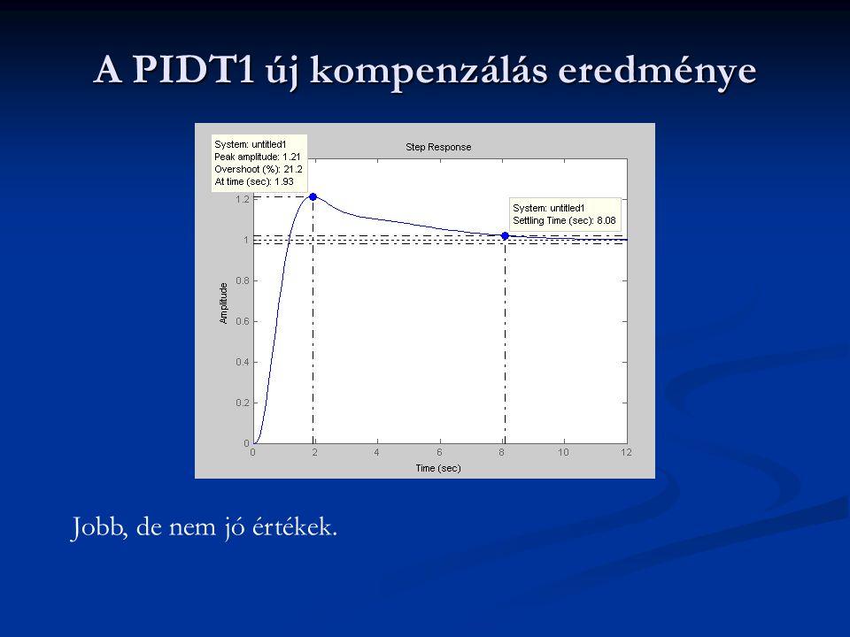 A PIDT1 új kompenzálás eredménye