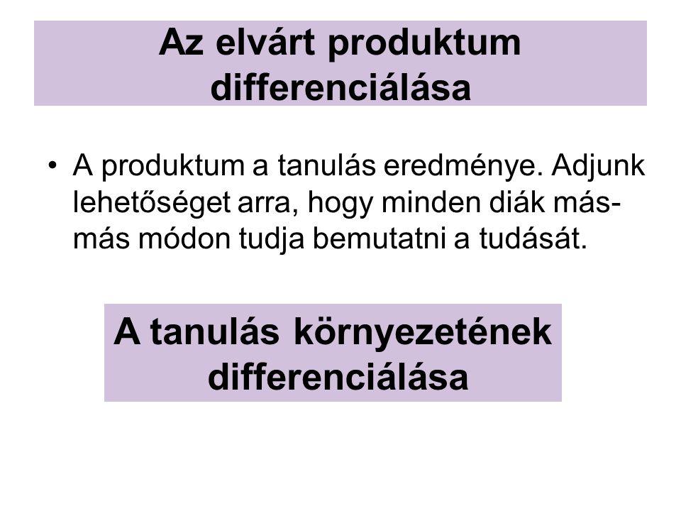 Az elvárt produktum differenciálása