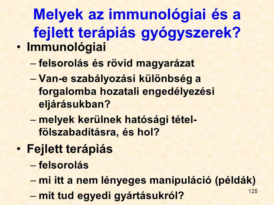 Melyek az immunológiai és a fejlett terápiás gyógyszerek
