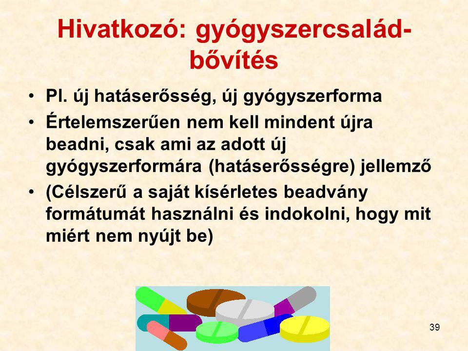 Hivatkozó: gyógyszercsalád-bővítés