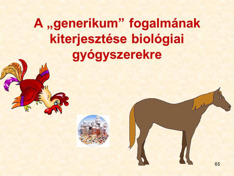 """A """"generikum fogalmának kiterjesztése biológiai gyógyszerekre"""