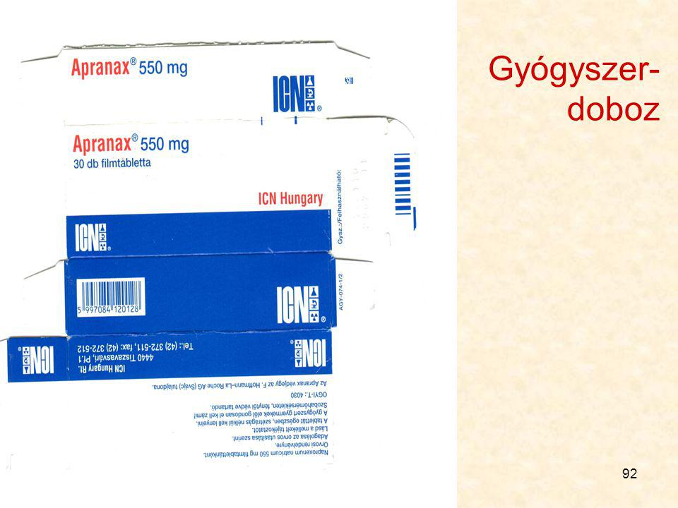 Gyógyszer- doboz