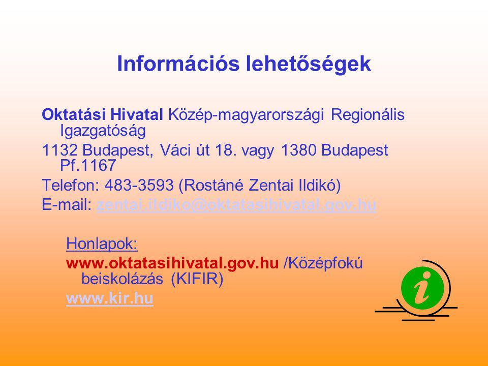Információs lehetőségek