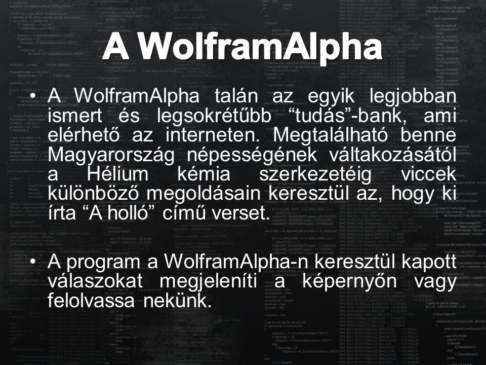 A WolframAlpha