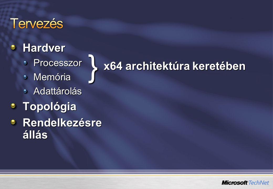 } Tervezés Hardver x64 architektúra keretében Topológia