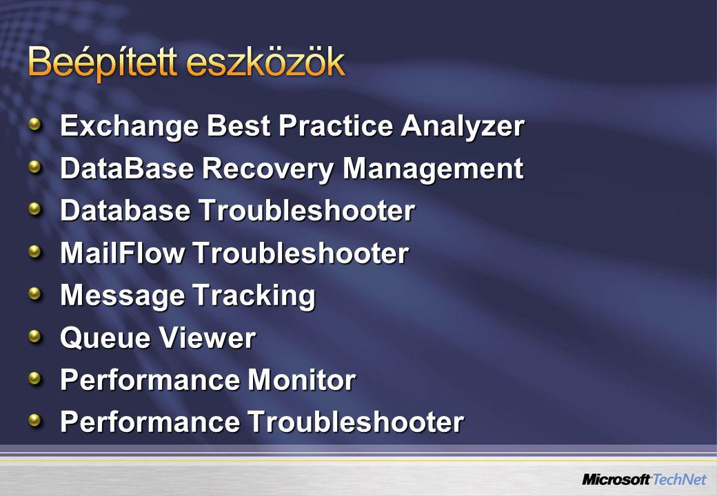 Beépített eszközök Exchange Best Practice Analyzer