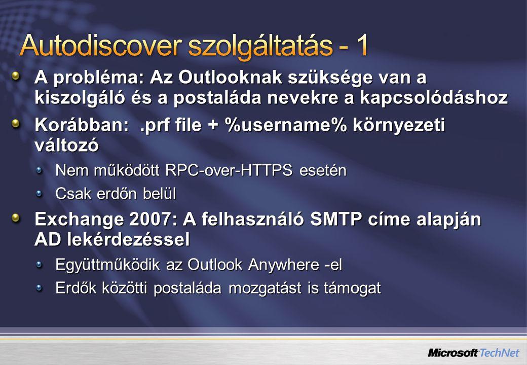 Autodiscover szolgáltatás - 1