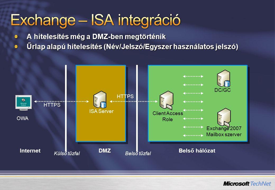 Exchange – ISA integráció