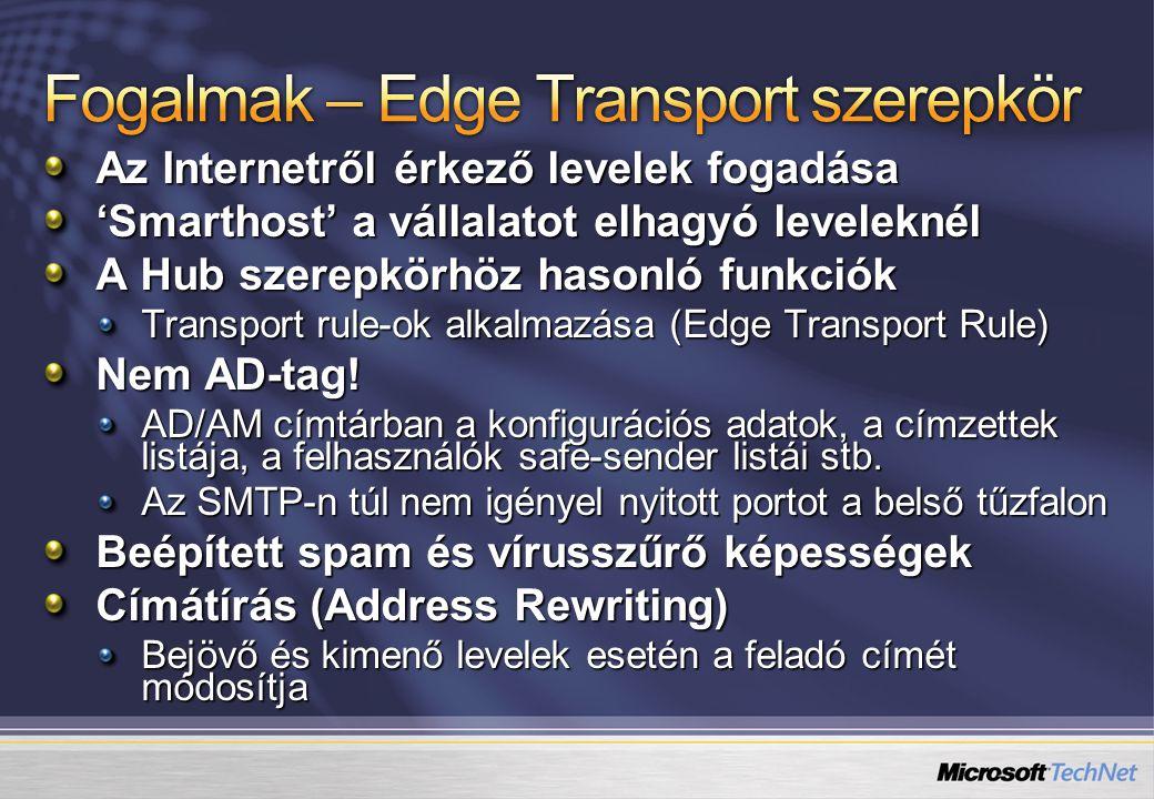 Fogalmak – Edge Transport szerepkör
