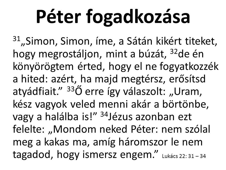 Péter fogadkozása