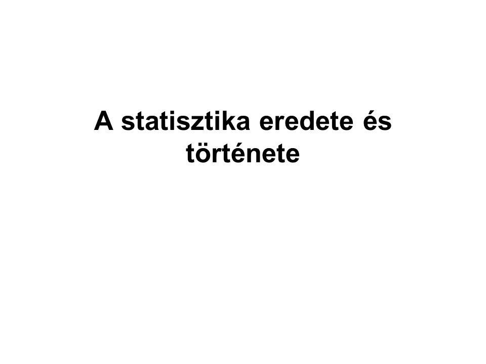 A statisztika eredete és története